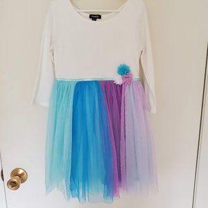 Zunie Rainbow Fit & Flare Dress NWOT